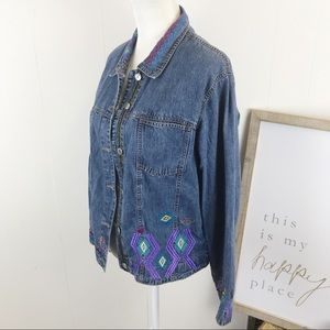 Embroidered jean jacket from Chico's